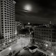Smith Tower Moonlit